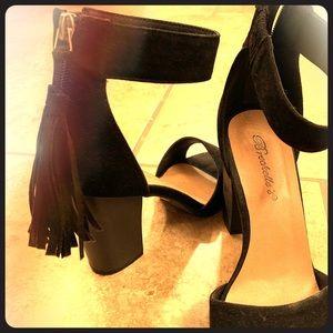 Open toe heels.